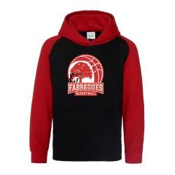 Sweat capuche enfant bicolore