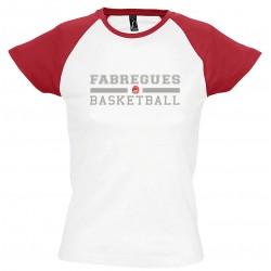T-shirt bicolore femme...